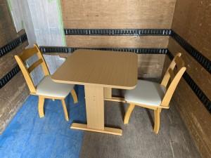 recycle-hirosima-syuttyoukaitori-fuyouhinn-nitori-diningset-simple