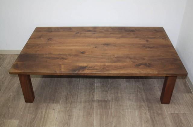 頑固おやじ 家具 座卓 コタツ ローテーブル ウォールナット材 無垢 買取り